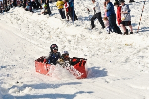 Crotched Mountain Cardboard Sled Race